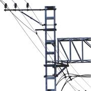 Опоры контактной сети ,  мачты светофоров,  опоры автоблокировки